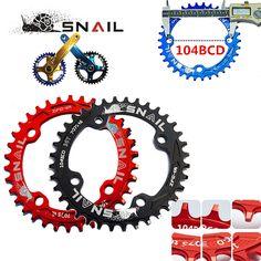 CARACOL de bicicletas mountain bike mtb Oval y Redonda Plato y bielas Bielas 32 T 34 T 36 T De Aluminio BCD104 Gear
