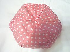 American Girl Doll Bean Bag Chair - Salmon with White Polka Dots  - 18 inch,  Etsy Kids, Gift under 15 on Etsy, $14.18 CAD