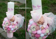 Lumanare botez zana, lumanare botez printesa Wedding Bouquets, Baby Car Seats, Easter, Party Ideas, Events, Candles, Weddings, Sweet, Flowers