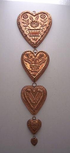 I don't know what I love more: these heart shaped chocolate molds, or what goes inside them!