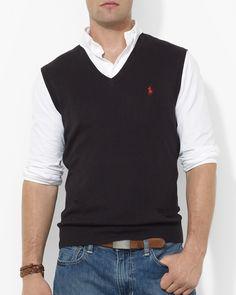 Polo Ralph Lauren Pima Cotton Sweater Vest | via Bloomingdale's ...