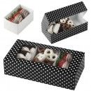 Treat Boxes by Wilton - Pack of 3 - Black & White Polka Dot