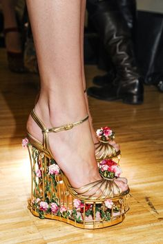 These shoes are too cool even if I'd never wear them!   Backstage: Dolce & Gabbana F/W 2013