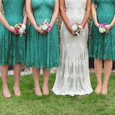 ce169c68fa Nancy Mac Bespoke Lace Bridesmaid Dresses In Jade  affiliate  bridesmaid   cute  beautiful