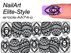 Слайдер дизайн AA74-p — СЛАЙДЕР-ДИЗАЙН NailArt Elite-Style NEW! — Каталог — Elite Style Henna Nails, Gel Nails, Nail Polish, Stencil Designs, Nail Art Designs, Galaxy Nail Art, School Nails, Manicure Y Pedicure, Nail Patterns