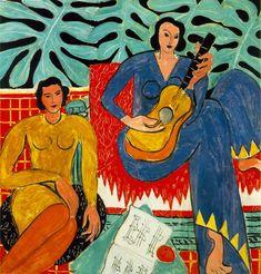 """""""Un été pour Matisse"""" à Nice (France) du 21.06 au 23.09.2013, en hommage à Henri Matisse, peintre français (1869-1954). Un parcours de huit expositions en huit lieux différents. Huile sur toile ici présentée """"La musique"""" de 1939."""