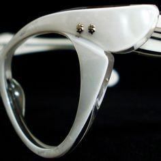 Vintage Eyeglasses Eyewear Vintage 50s Frame France Cat Eye Eyeglasses by zenaprincesswarrior, $110.00