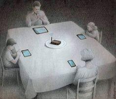 Düstere Illustrationen interpretieren unsere Beziehung zur Technologie Pawel Kuczynski's illustration has found favor with those who are slow enough about Pokémon Go. Satire, Political Art, Political Cartoons, Satirical Cartoons, Why Is Art Important, Pokemon Go, To Do App, Technology Addiction, Satirical Illustrations