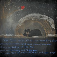 Waldorf Inspired Home School Themes-Animals In Winter Chalkboard Drawings, Chalk Drawings, Chalkboard Art, Waldorf Preschool, Waldorf Kindergarten, Winter Activities, Preschool Activities, Waldorf Education, Classical Education