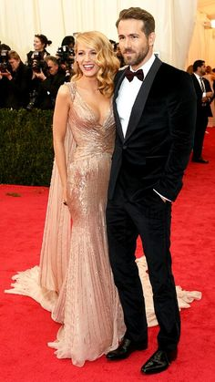 Beatiful Couple Blake Lively and Ryan Reynolds #MetGala2014