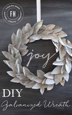 DIY Galvanized Wreath - a perfect blend of modern, vintage and Christmas. Full step by step tutorial included.