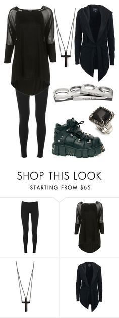 """""""Goth/Emo Chic."""" by stephaniegrace ❤ liked on Polyvore featuring Splendid, Reactor, Alex and Chloe, UNCONDITIONAL and Avalaya"""
