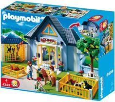 Amazon.com: Playmobil Animal Clinic: Toys & Games