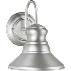 Shop for Brushed Nickel Outdoor Wall Lantern Dark Sky Compliant. Get free delivery On EVERYTHING* Overstock - Your Online Outdoor Lighting Store! Outdoor Barn Lighting, Outdoor Light Fixtures, Outdoor Wall Lantern, Outdoor Wall Sconce, Outdoor Walls, Transitional Wall Sconces, Light Bulb Bases, Cool Floor Lamps, Dark Skies