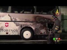Vigili del Fuoco - Bologna - Incendio in galleria di un Bus con passegge...