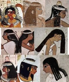 33.La esposas de los faraones y las mujeres de la nobleza tambien se representaban con prendas drapeadas con lino blanqueado plisadas a manos.En la XVIII dinastía se incorporaron nuevos estilos de ropa como reflejo de los profundos cambios religiosos.La mujer de Akenatón, Nefertiti y de sus seis hijas las muestran vestidas con largos y fluidos drapeados de lino plisado.Son representadas siguiendo las características de cintura estrecha y caderas y muslos redondeados.