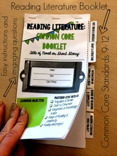 Grades 9-12 Reading Literature: Common Core Booklet!  Engaging questions that help students think beyond the surface!
