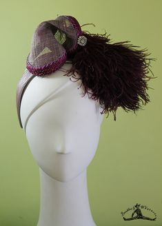 Silver and Purple Art Deco Headband - 1920s Style Headband - Flapper Headband - Bridal - OOAK