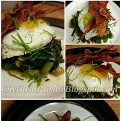 Breakfast | My Paleo Table	 Recipe: Tomatillo Braised Greens with Bacon and Eggs
