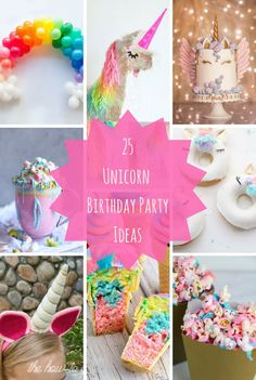25 Unicorn Birthday Party Ideas Need some ideas for birthday party snacks? Then youve come to the right place. Tons of i Diy Unicorn Birthday Party, Birthday Party Snacks, First Birthday Parties, Girl Birthday, First Birthdays, Birthday Ideas, Healthy Birthday, Summer Birthday, Birthday Cake