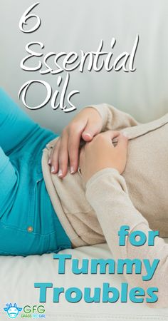 6 Essential Oils to Help with Digestive Upset, Gas and Bloating | http://www.grassfedgirl.com/6-essential-oils-to-help-gas-bloating-digestion/