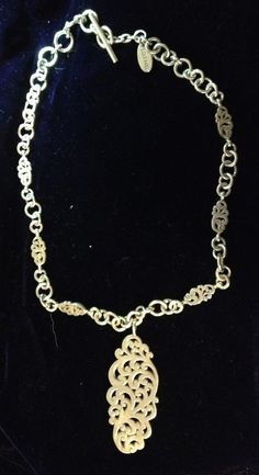 Lois Hill Heavy Sterling Silver Necklace #LoisHill