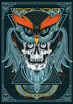Owl Skull on Behance