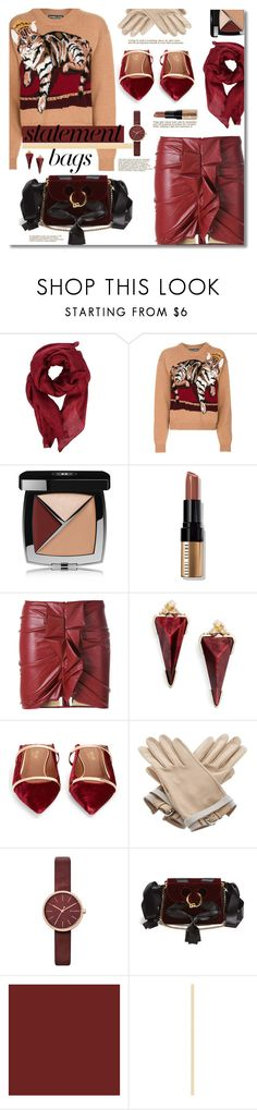"""""""My sweater cat is jealous of my bag"""" by nineseventyseven ❤ liked on Polyvore featuring Gucci, Dolce&Gabbana, Chanel, Bobbi Brown Cosmetics, Étoile Isabel Marant, Kendra Scott, Malone Souliers, Hermès, Skagen and J.W. Anderson"""
