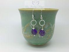 Amethyst Sterling Silver Earrings – Luzjewelrydesign #earrings