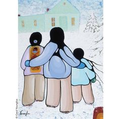 This artist's works are also available in Note Card Boxed Sets. Native Art, Native American Art, Indigenous Art, Family Day, Canadian Artists, People Art, Site Design, Various Artists, Canada