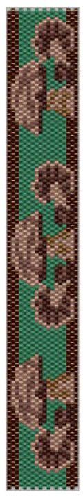 Mushroom Bracelet Pattern at Sova-Enterprises.com. Lots of free beading patterns and tutorials on this site!