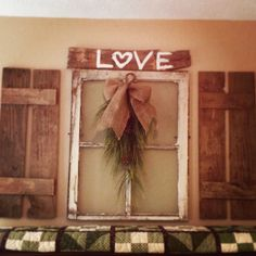 Old window with pallet shutters! :)