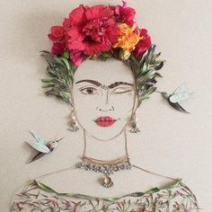 Every day, we see artists pay homage to Mexican icon Frida Kahlo, but we've never seen a piece honoring the artist more beautiful than these flower portraits.Vivala first reported on Vicki Rawlins, the artist behind online shop Sister Golden. Vicki and her mother, who works with her on her handmade a