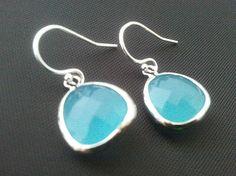 Ocean blue Summer Earrings by LaLaCrystal on Etsy, $18.00
