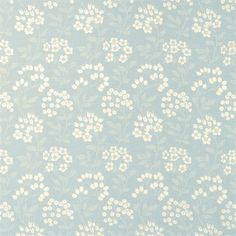 Duck-egg floral print linen and cotton fabric suitable for curtain and blind use only. Request a Free Swatch here.