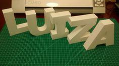 Estas lindas Letras 3D branca da Luiza vão para o Rio! Parabéns Luiza! Facebook: Lembrancinha de Festa Artes