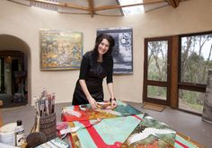 Nerina Lascelles at work in her Studio