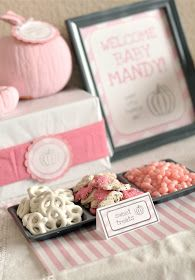 Little Girl Pumpkin Baby Shower - Party Ideas . - Little Girl Pumpkin Baby Shower – Party Ideas - Baby Shower Images, Baby Girl Shower Themes, Girl Baby Shower Decorations, Baby Shower Fall, Fall Baby, Shower Party, Baby Shower Parties, Little Pumpkin Shower, October Baby Showers