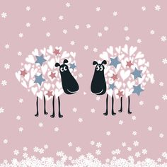 Sheepish Christmas - blank greeting card from Sophie Morrell - £3.00