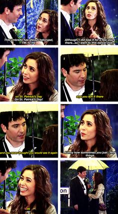 Ted and Tracy. Funny how the littlest things can bring two people together. And i loved how everything through the way was going to be completed when she arrived. I just feel sad that they made Ted go after Robin again and broke Robin and Barney up