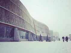 Snowing in Nuuk! Louvre, Snow, City, Instagram Posts, Travel, Trips, Traveling, Eyes, Cities