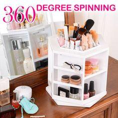 360° Drehung DIY Kosmetik Make Up Organizer Aufbewahrung Ständer Kosmetikbox DE in Beauty & Gesundheit, Make-up, Make-up-Utensilien | eBay