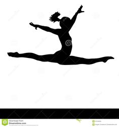 Artistic Gymnastics. Gymnastics Woman Silhouette. - Download From Over 61 Million High Quality Stock Photos, Images, Vectors. Sign up for FREE today. Image: 52103029