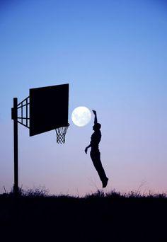 Slam dunk the moon!