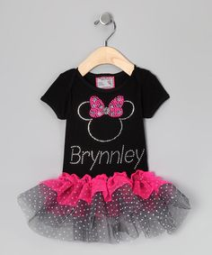 Minnie mouse tutu!!  http://www.zulily.com/invite/jpalmer893/p/black-pink-personalized-tutu-tee-infant-toddler-girls-23552-2048429.html?tid=referral_pinterest