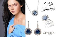 Blue, white and #silver are the nuance of this incredibly feminine parure. The perfect Christmas #gift.. http://www.civettajewels.it/store/it/cerca?controller=search&orderby=position&orderway=desc&search_query=kira&submit_search=