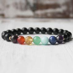 Ground Chakra Bracelet, Black Tourmaline Bracelet, Yoga Bracelet Energy Stone Healing Jewelry by DazzleDream on Etsy https://www.etsy.com/listing/180361774/ground-chakra-bracelet-black-tourmaline