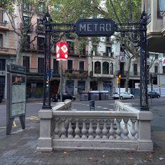 Beautiful Metro station in Barcelona: Urquinaona