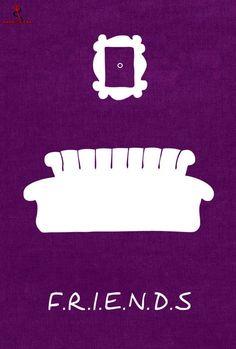 Friends Minimalist poster serie tv