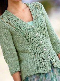 Lace Knitting Patterns, Knitting Stitches, Knitting Designs, Free Knitting, Baby Knitting, Lace Patterns, Cardigan Pattern, Vintage Cotton, Knitted Hats
